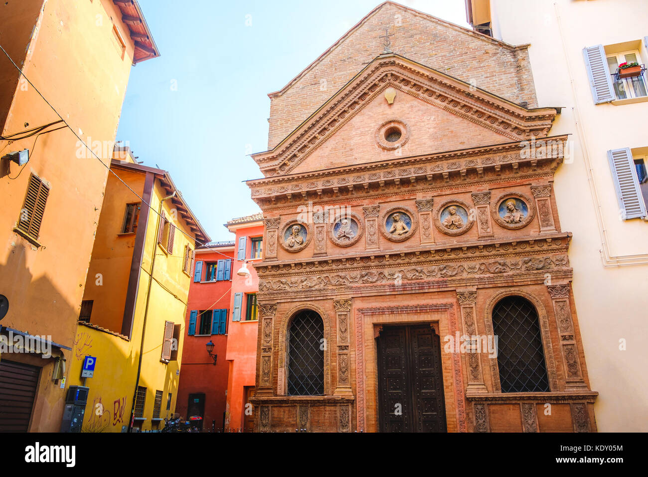 Oratorio Santo Spirito Bologna - Emilia Romagna church - Italy - Stock Image
