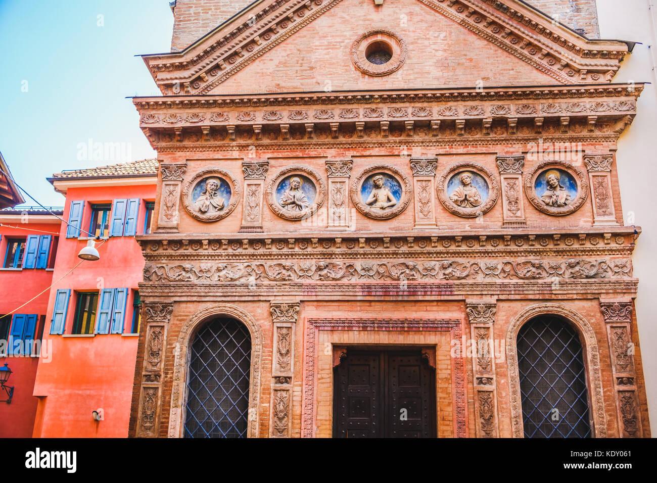 Oratorio Santo Spirito Bologna church facade - Emilia Romagna - Italy - Stock Image
