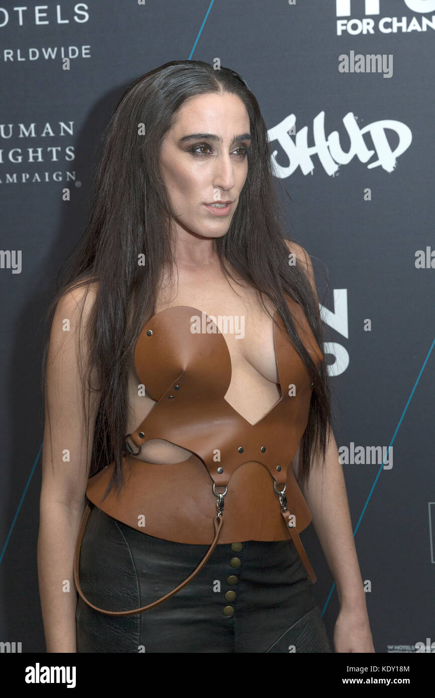 New York, NY - October 21, 2014: Ladyfag attends the W Hotels TURN IT UP FOR CHANGE Ball at W Union Square Stock Photo