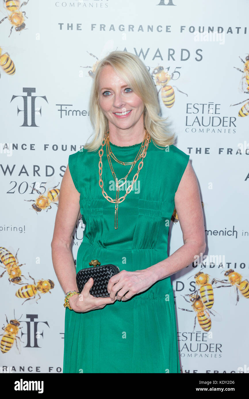 New York, NY - June 17, 2015: Linda Wells attends 2015 Fragrance Foundation Awards at Alice Tully Hall at Lincoln - Stock Image