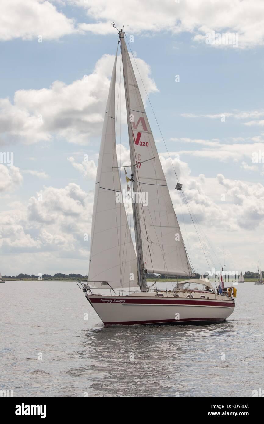 Sailboat - Zeeland - Stock Image