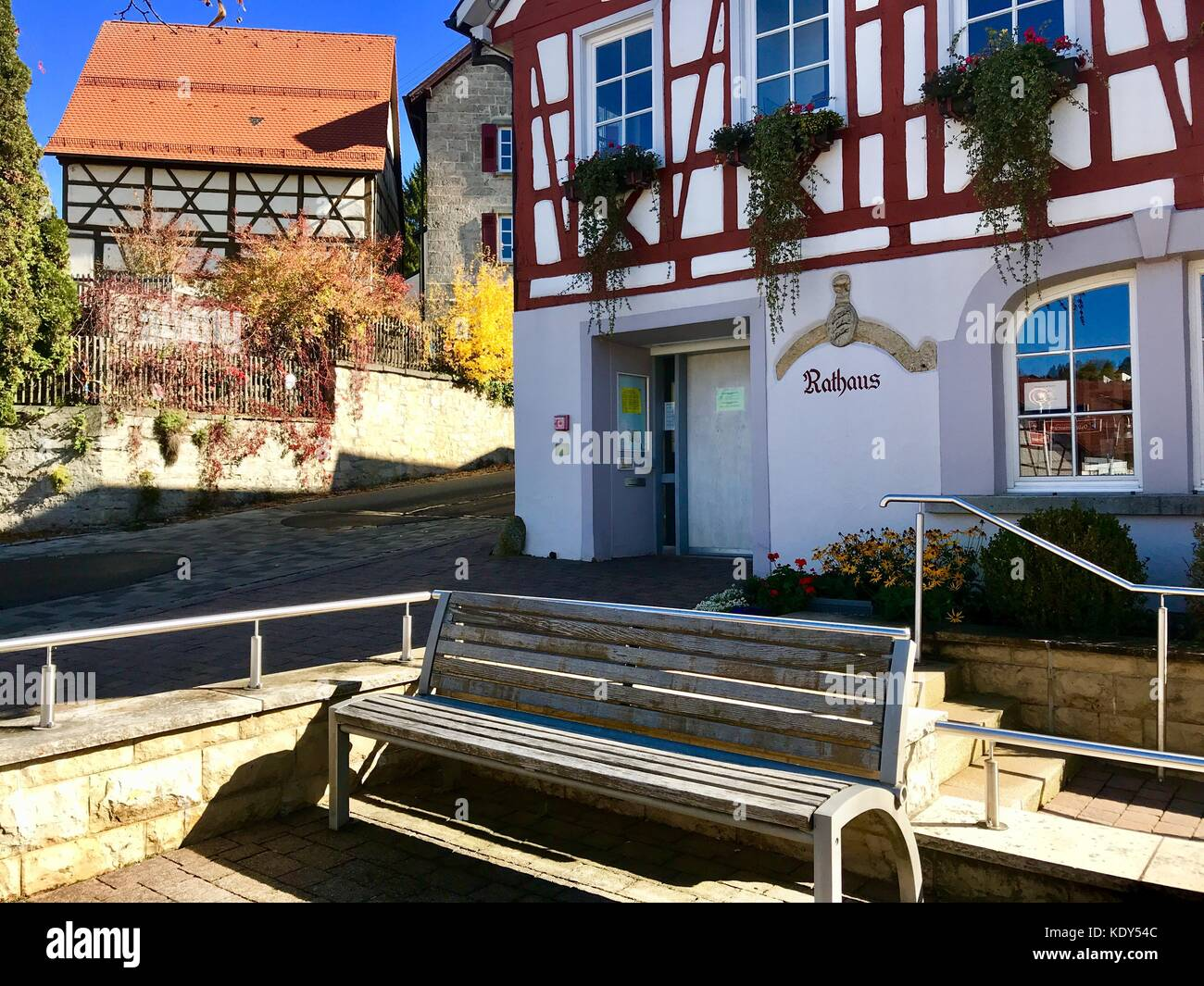 Townhall of Erpfingen in the Swabian Alb, Germany - Stock Image