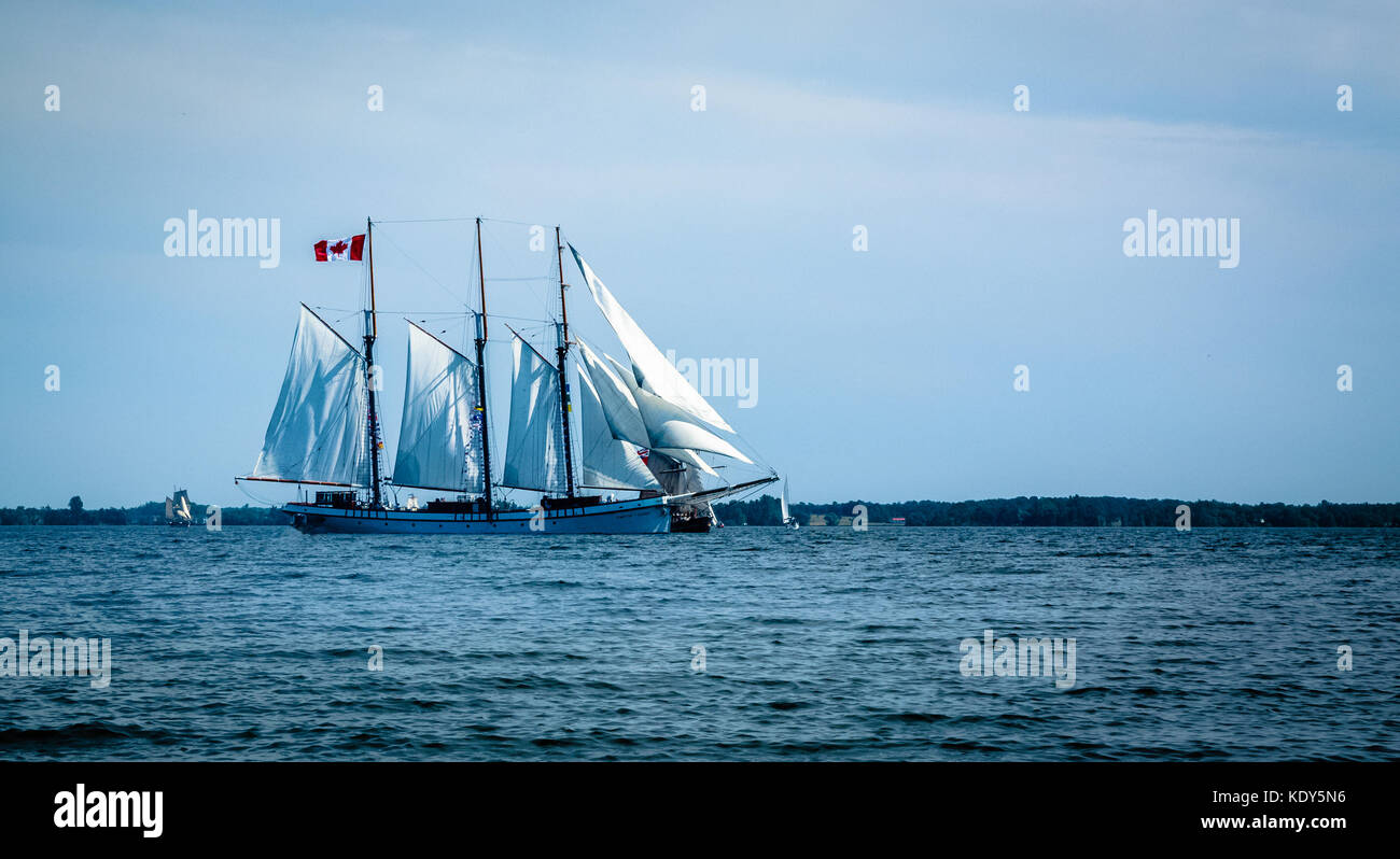 Tall ships event in Canada July 2017 to celebrate Canada's 150th birthday - Stock Image