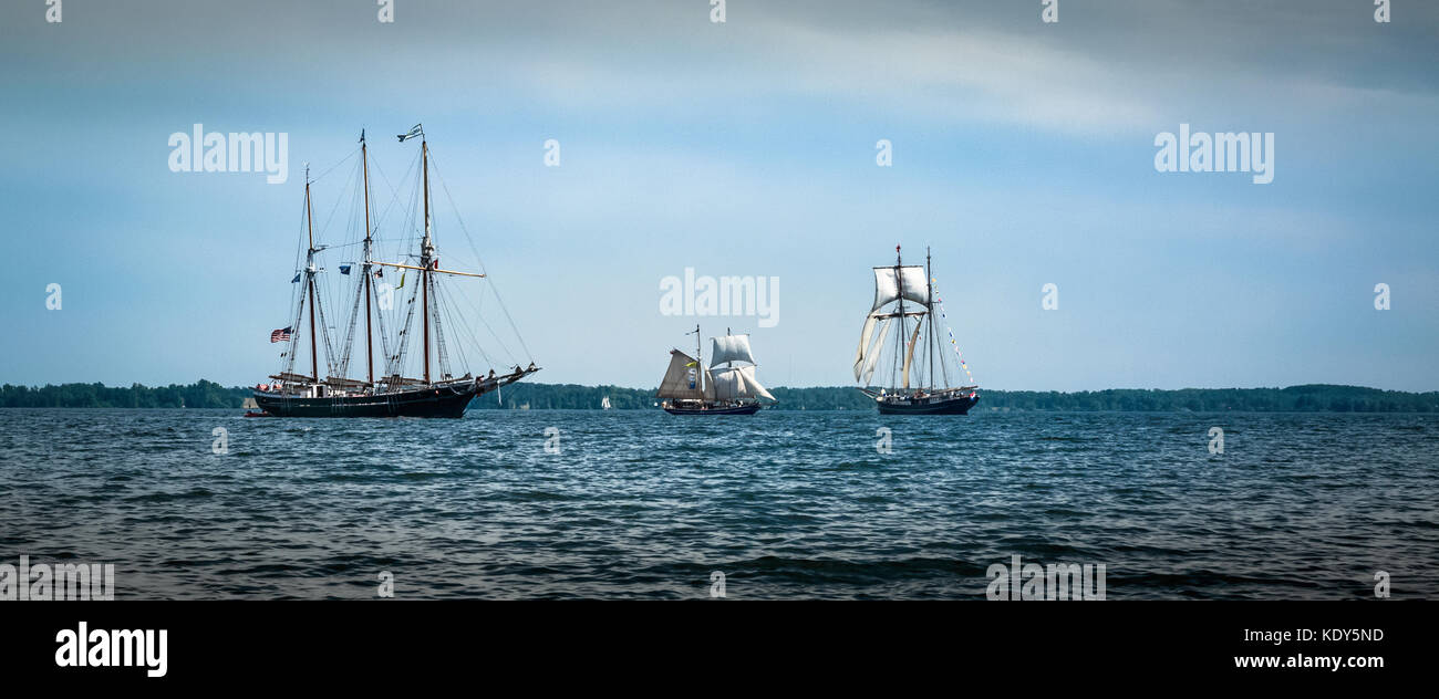 Tall ships event in Canada July 2017 to celebrate Canada's 150th birthday Stock Photo