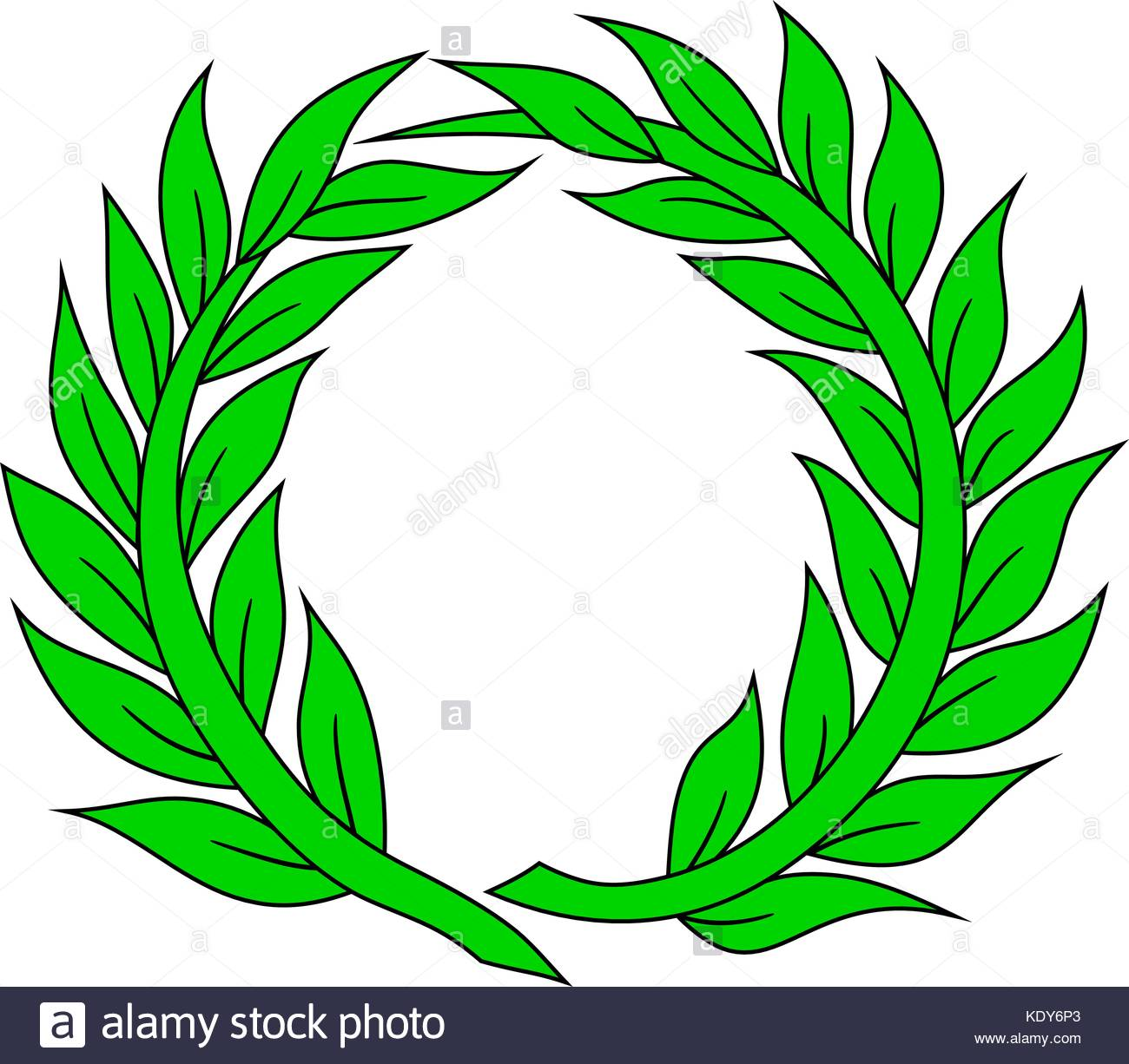Simple Laurel wreath, vector illustration Stock Vector
