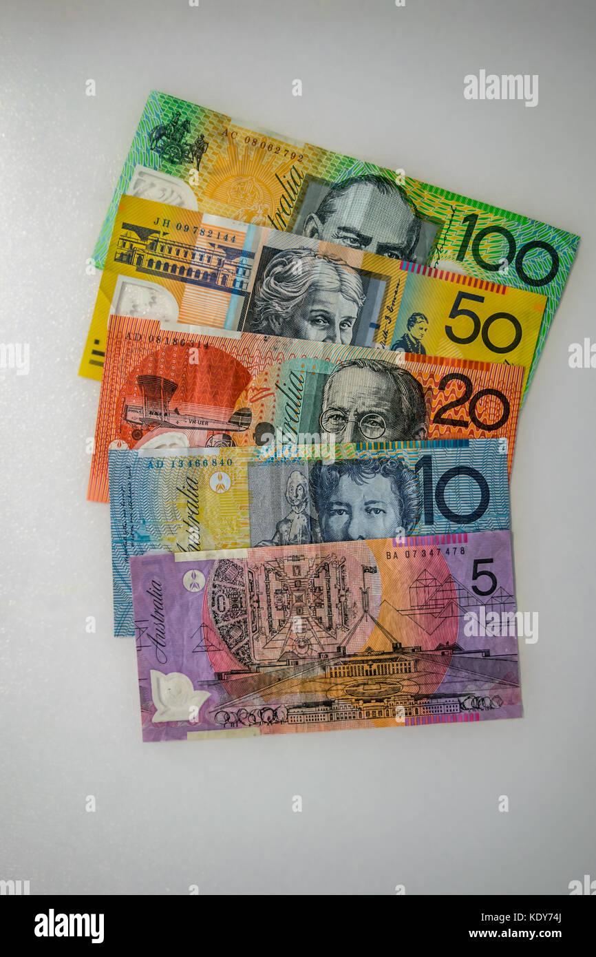 Aussie dollars - Stock Image