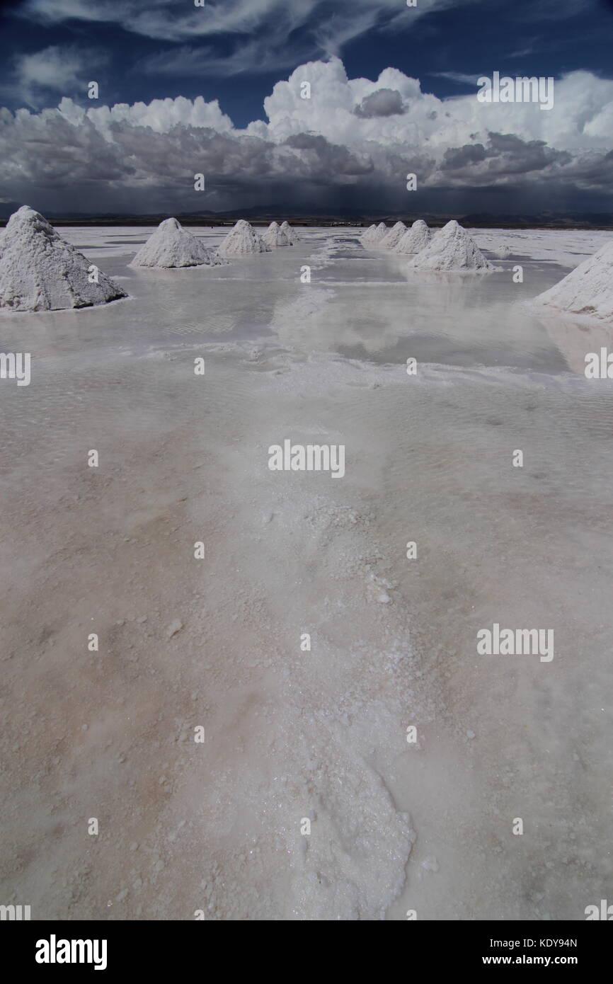 salt flat uyuni, bolivia - Stock Image