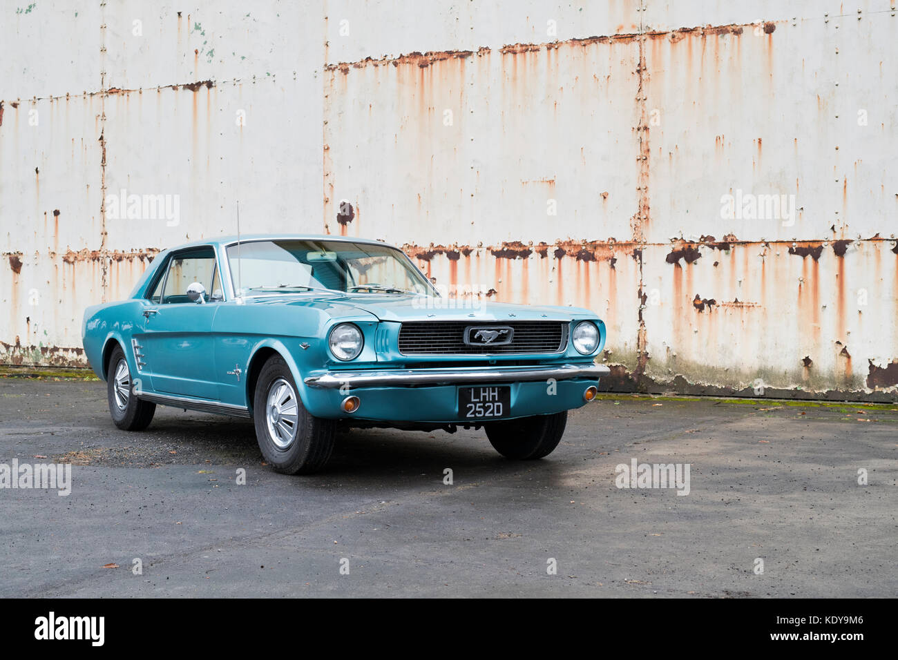 1966 Ford Mustang at Bicester Heritage Centre. Oxfordshire, England Stock Photo