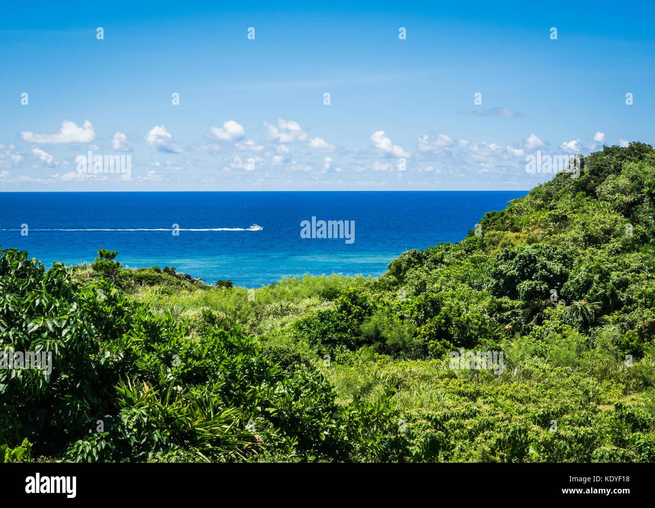Ocean view from Ishigaki-jima, Yaeyama Islands, Okinawa Prefecture, Japan - Stock Image