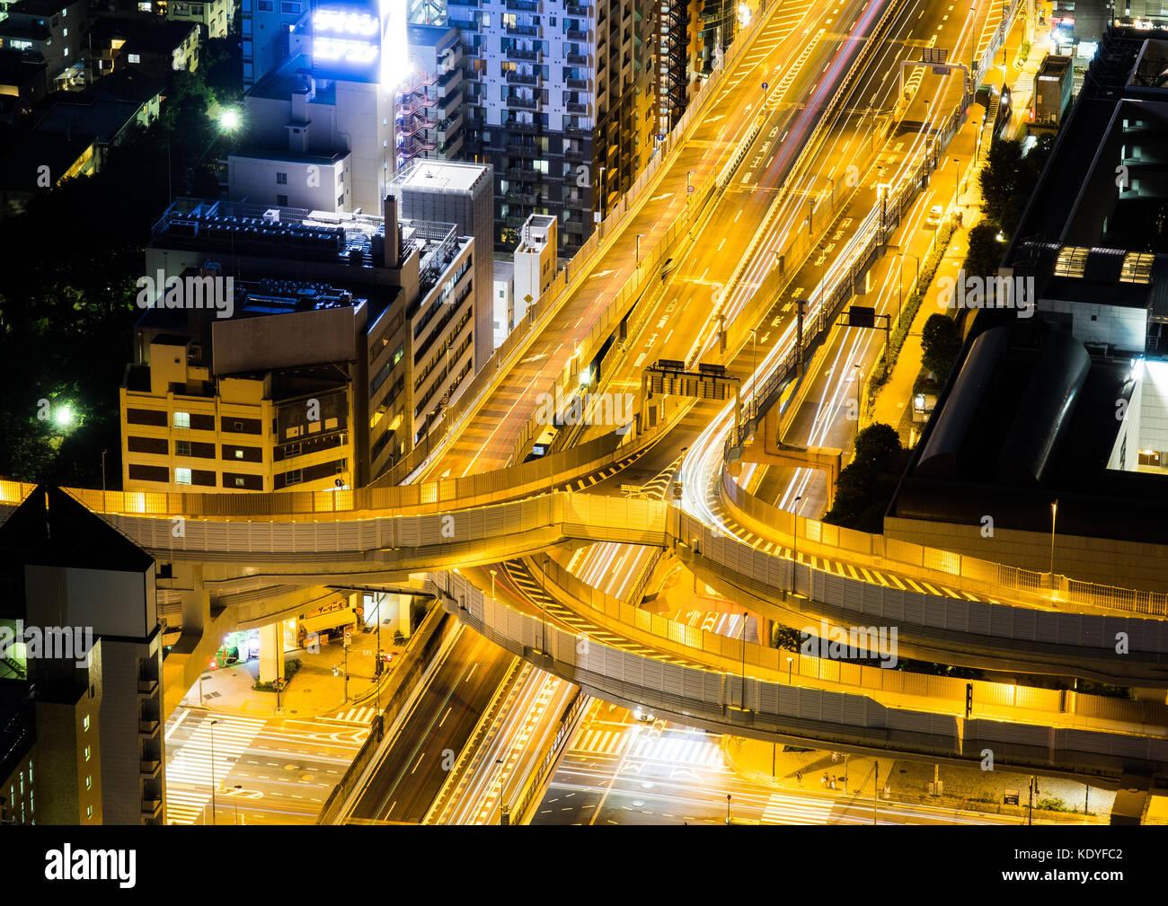 Amazing Tokyo by night, Shinjuku, Tokyo,  Japan - Stock Image