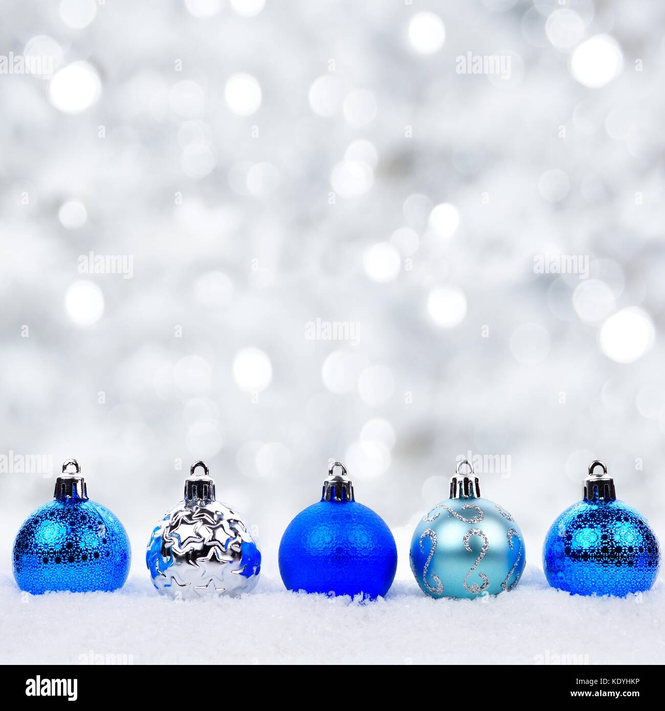 Silver And Blue Christmas Bauble Stock Photos Amp Silver And