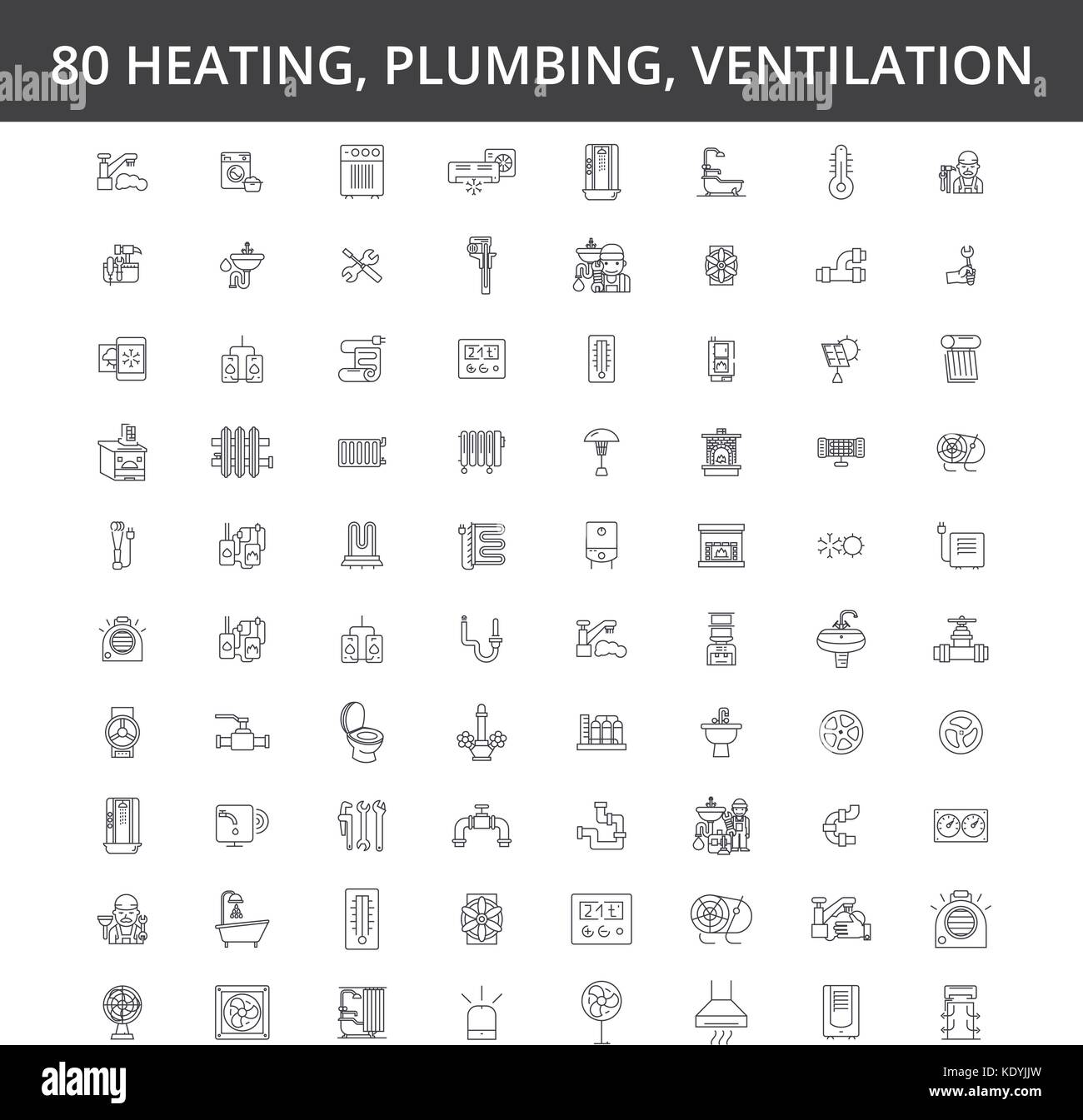 Hvac, heating, air conditioning, ventilation, plumbing service Stock ...