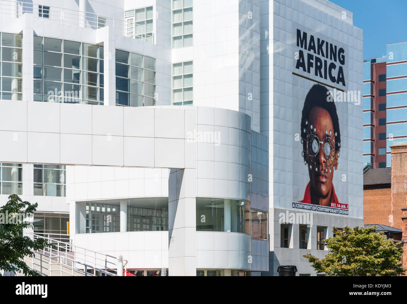 The High Museum of Art on Peachtree Street in Atlanta, Georgia, USA. - Stock Image