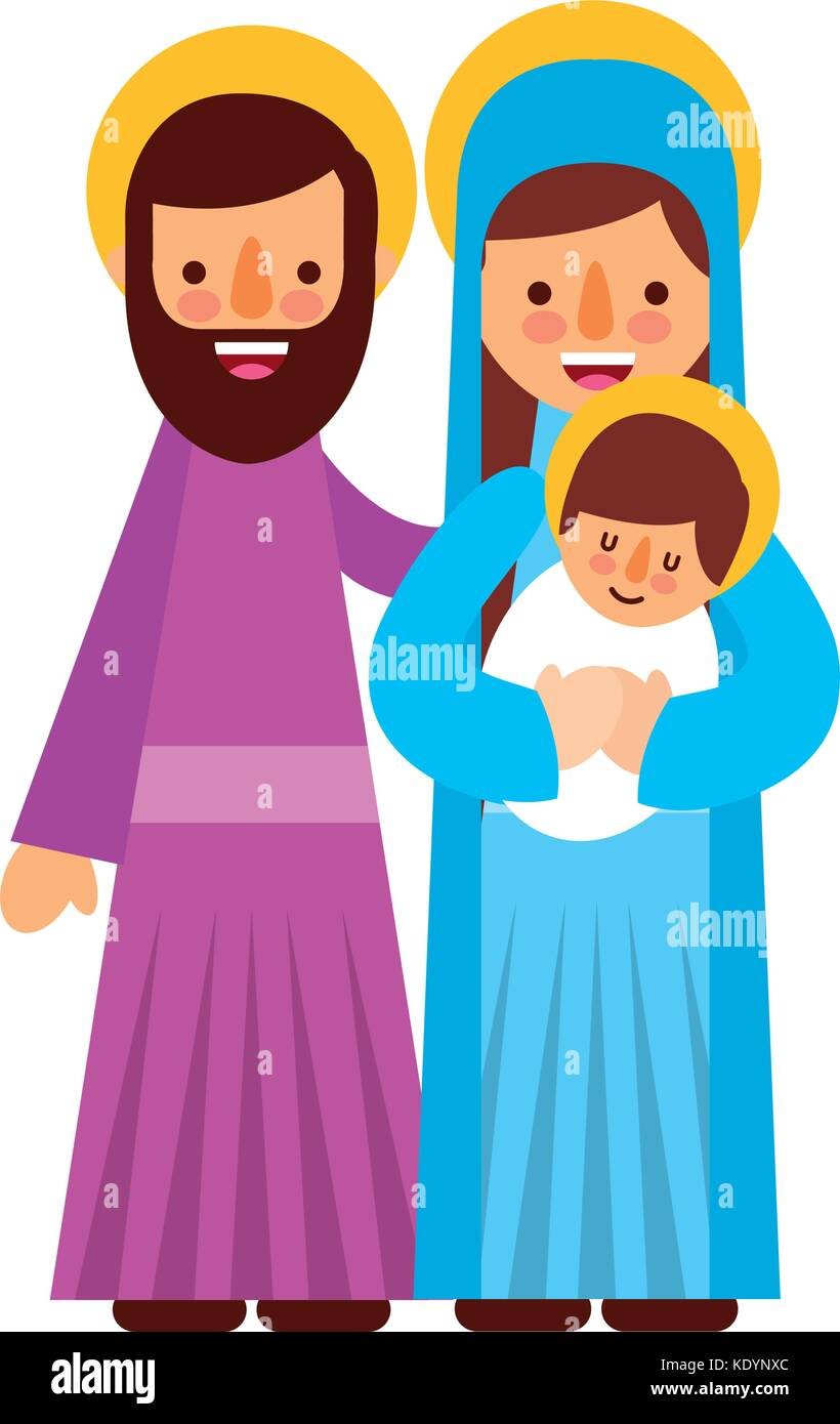 Mary And Joseph Stock Vector Images - Alamy
