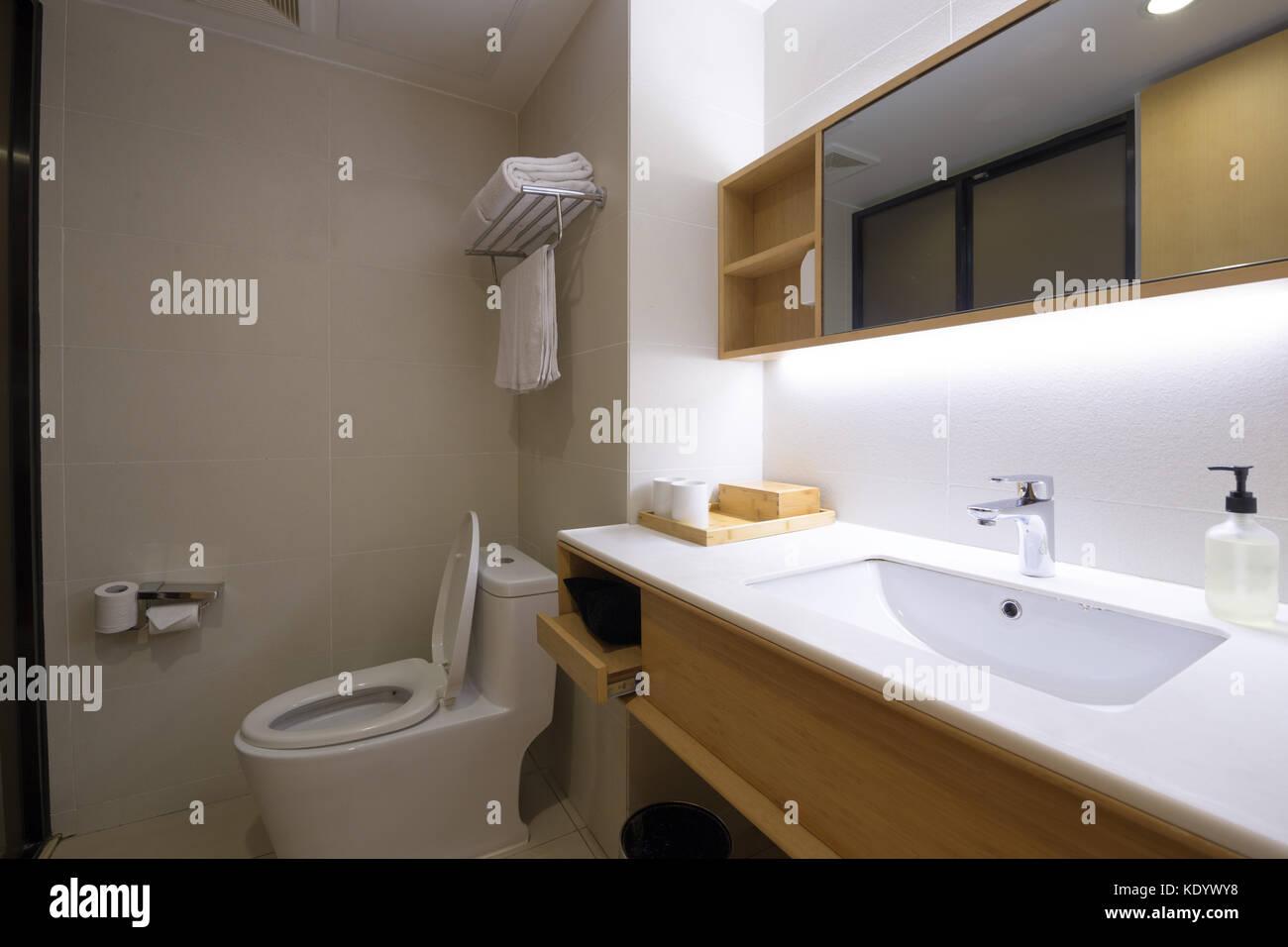 Commercial Bathroom Stock Photo Alamy