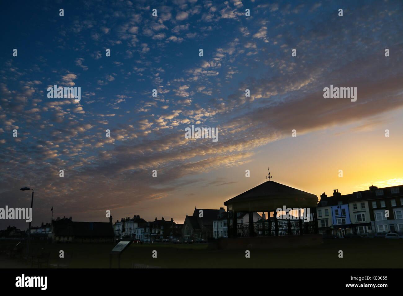 Walmer Bandstand Twilight - Stock Image