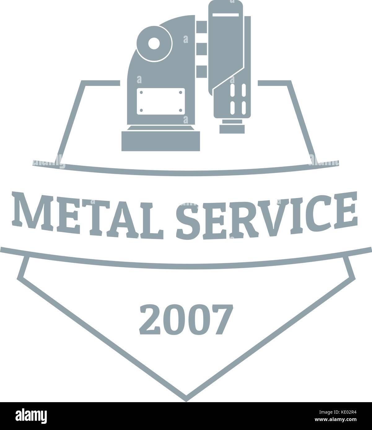 Mechanic service logo, vintage style - Stock Vector