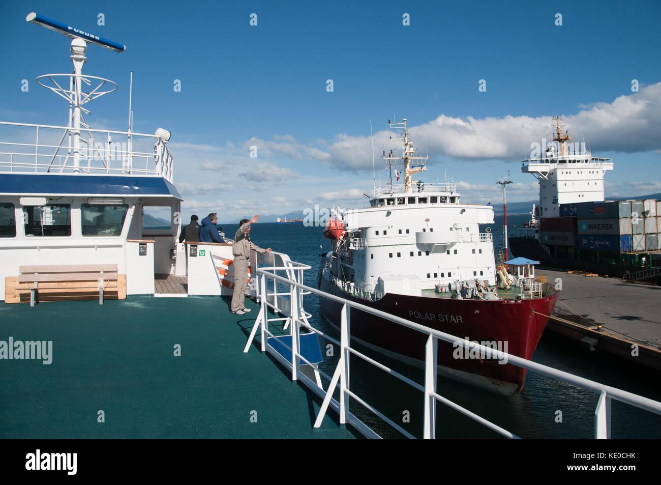 Troels waving goodbye - Stock Image