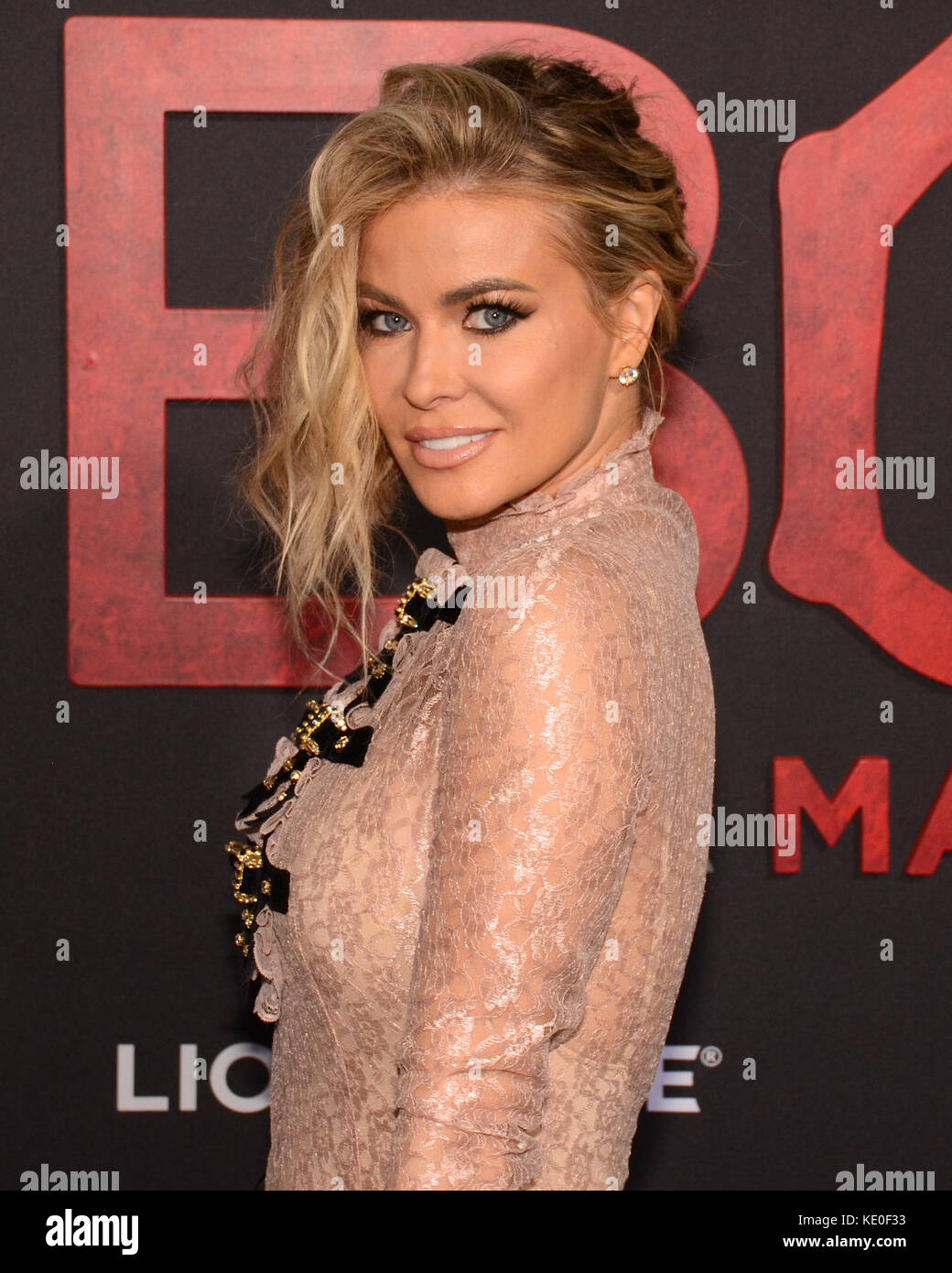 Los Angeles, California, USA. 16th Oct, 2017. TARA LEIGH PARTICK aka CARMEN ELECTRA arrives on the Red Carpet for - Stock Image