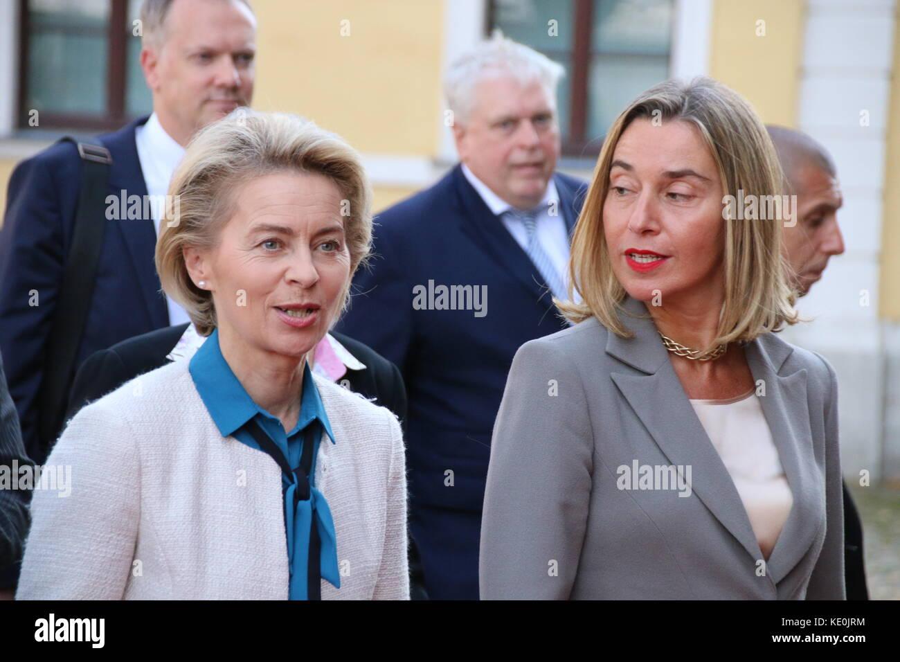 Magdeburg, Germany  17th Oct, 2017  Federica Mogherini Stock