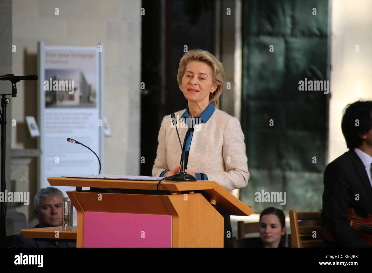 Magdeburg, Germany. 17th Oct, 2017. The Federal Minister of Defense, Dr. Ursula von der Leyen, is speaking at the - Stock Image