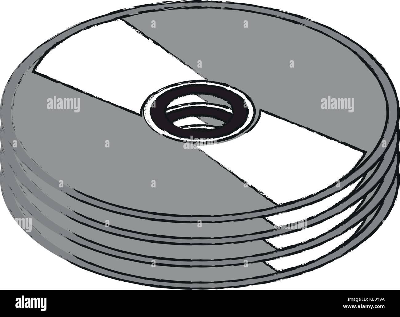 DVD cd rom - Stock Image