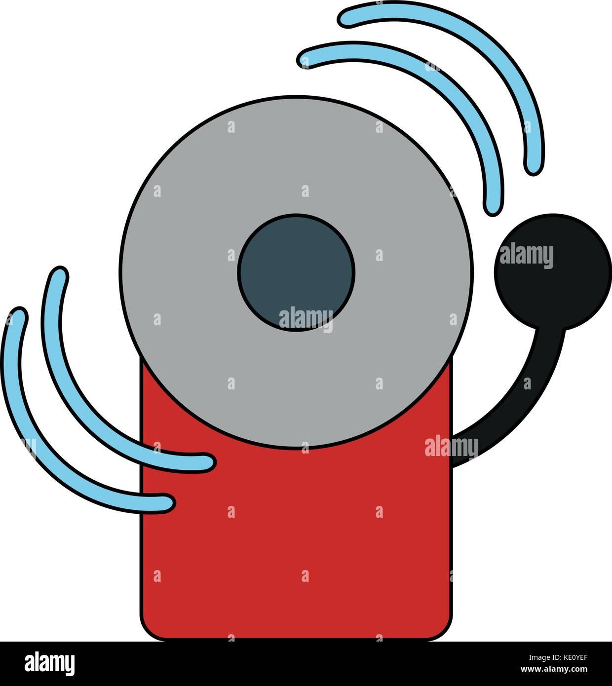 fire alarm icon image  - Stock Image