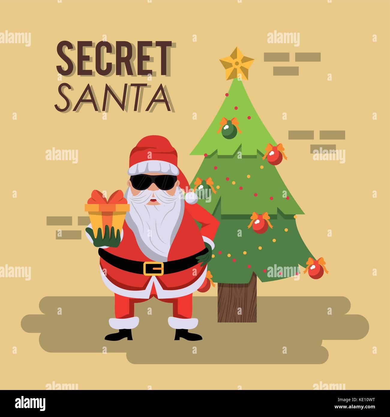 Secret santa stock vector images alamy secret santa cartoon m4hsunfo