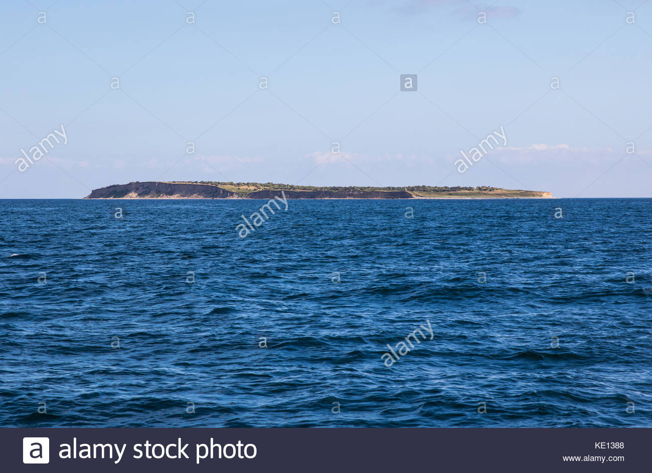 small island between grenå and samsø, kattegat, denmark / kleine insel zwischen grenå und samsø, - Stock Image