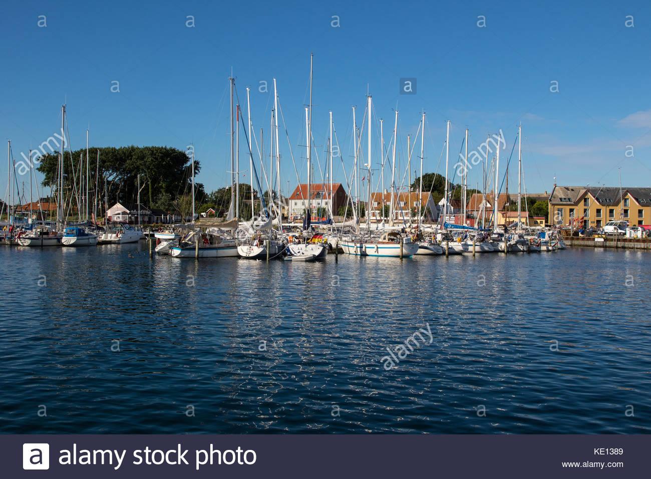 harbour of ballen at samsø, kattegat, denmark / hafen von ballen, samsø, kattegat, dänemark - Stock Image