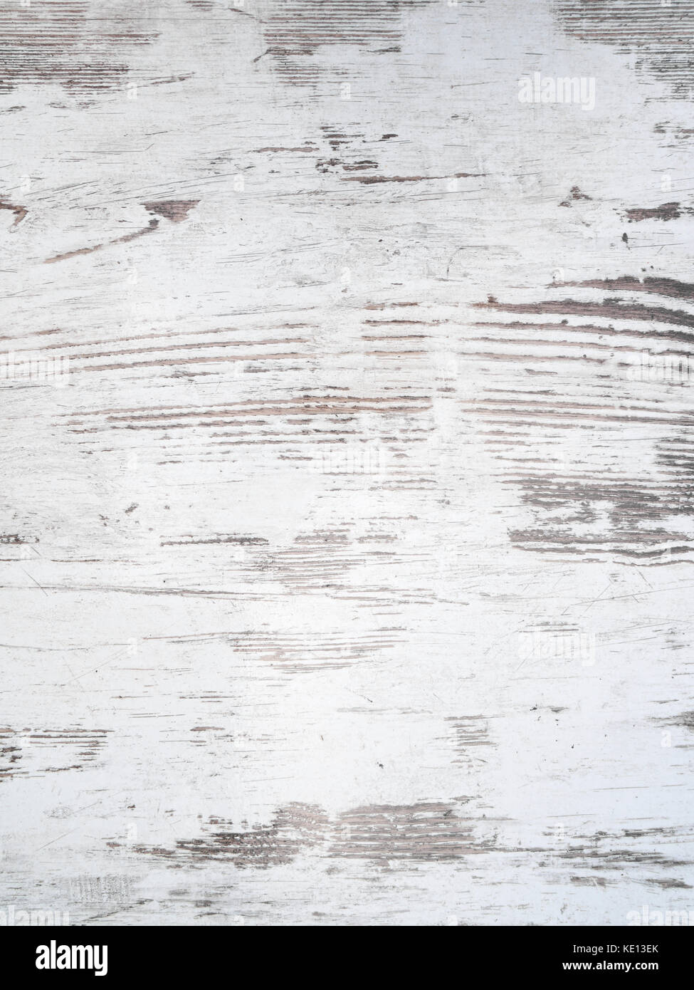 distressed white wooden background texture - Stock Image