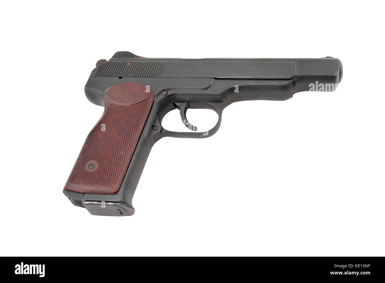 APS (automatic pistol of Stetchkin). 9mm. 20 cartridges. Very strong. Designed after the WWII. Popular by special - Stock Image