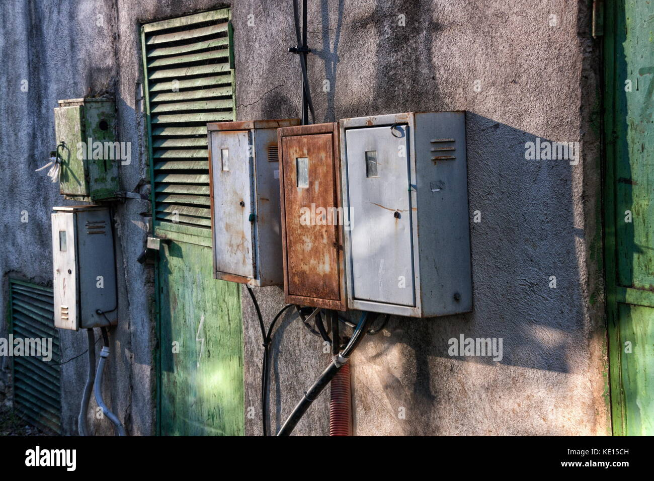 Old Fuse Boxes Stock Photos Images Alamy Fashion Box And Rusty Electricity Outdoors Image