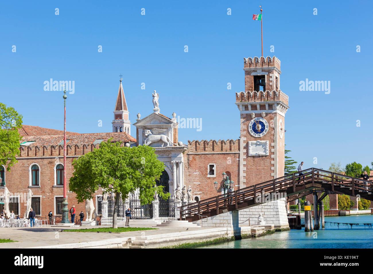 italy Venice italy Venetian Arsenal Arsenale di Venezia Ponte del Purgatorio and The Porta Magna at the Venetian Stock Photo