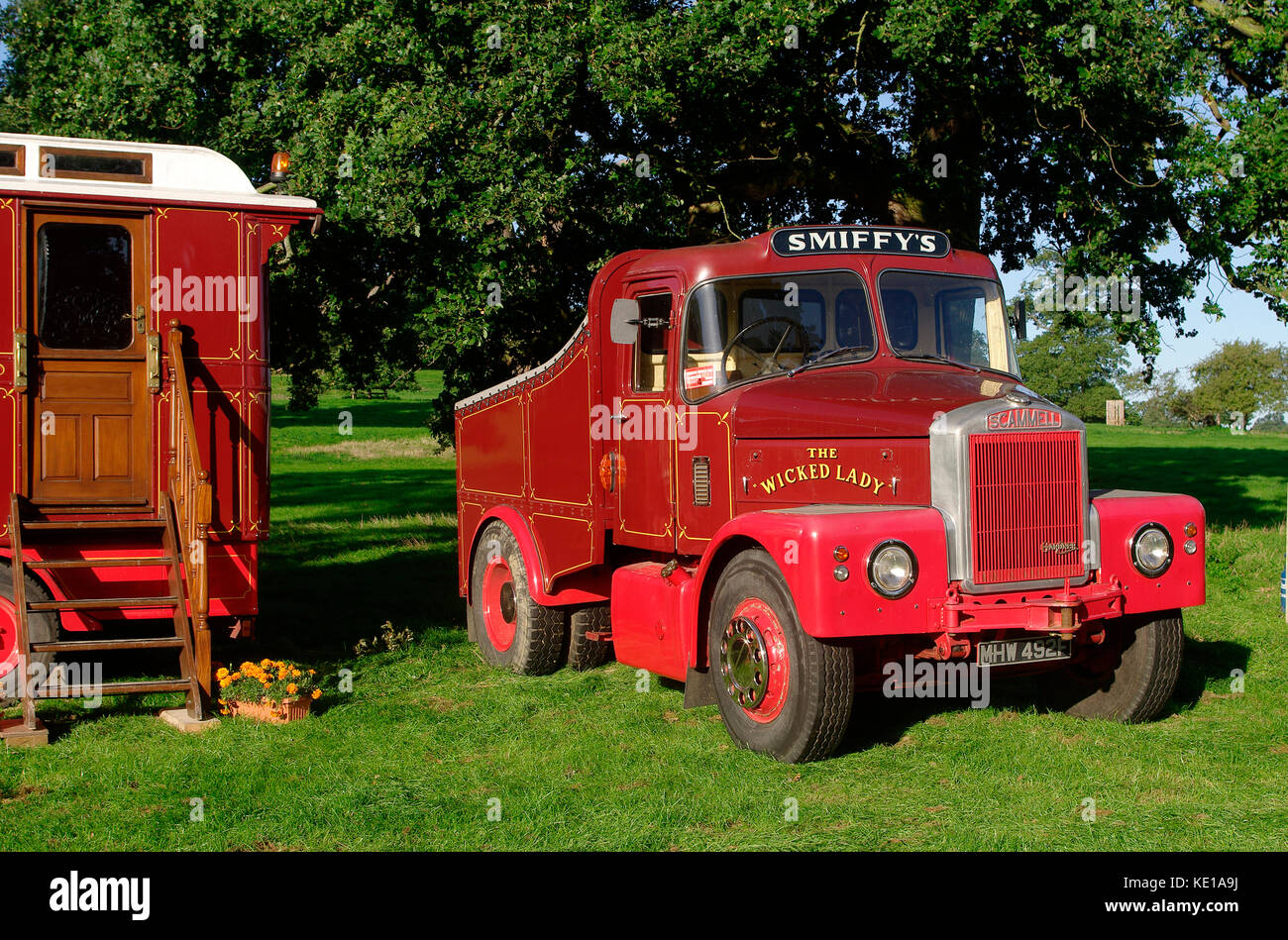 1967 Scammell Highwayman ballast tractor - Stock Image
