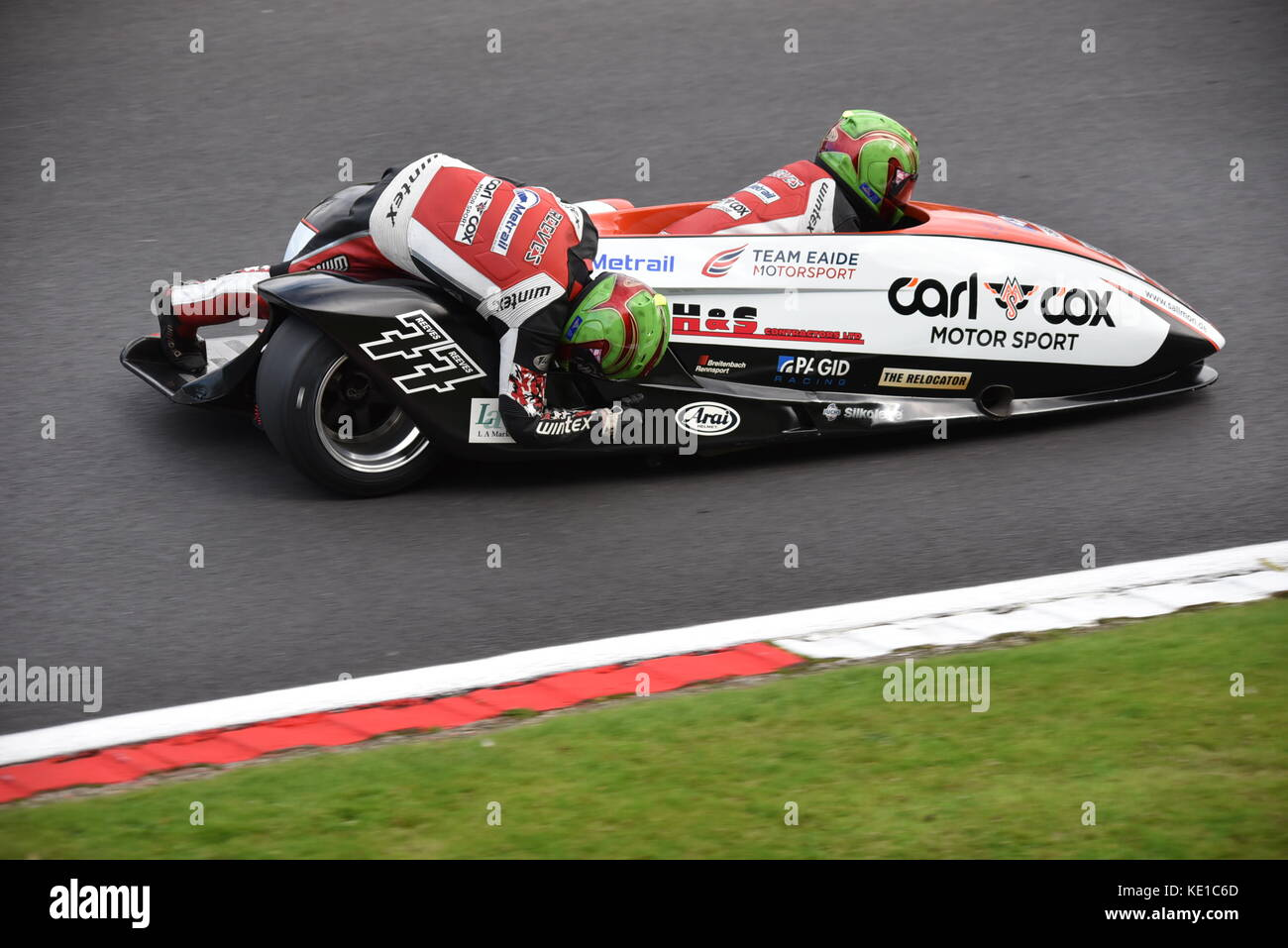 British Sidecar championship at BSB meeting - Stock Image