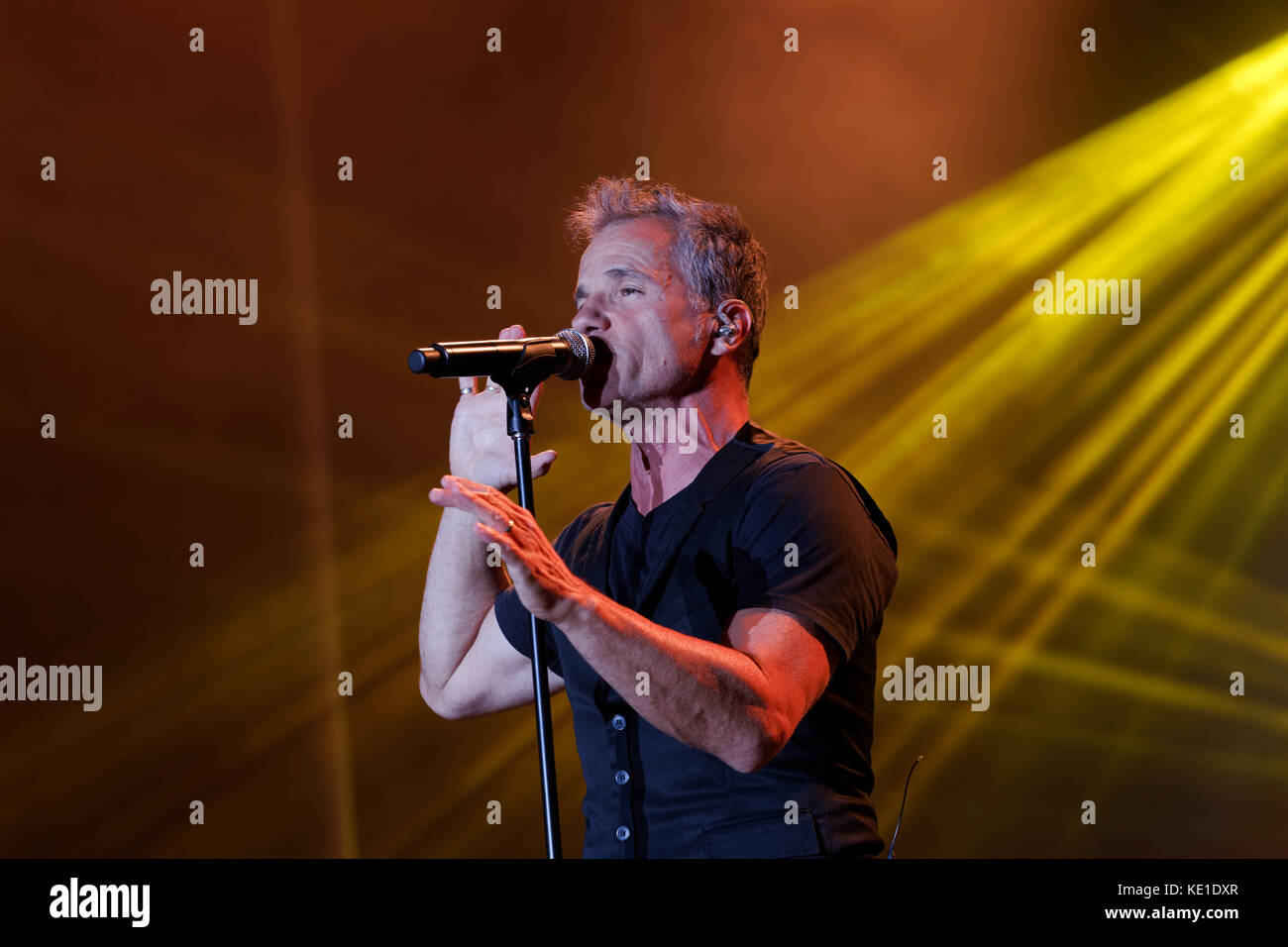 Quebec,Canada. Bruno Pelletier performs on stage in Montreal - Stock Image