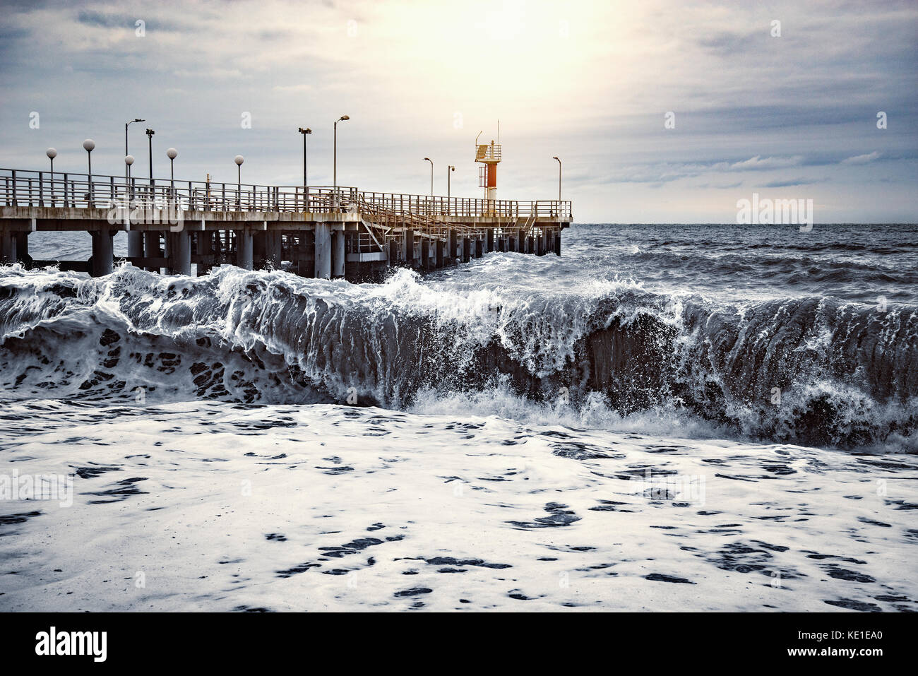 View of the pier. - Stock Image