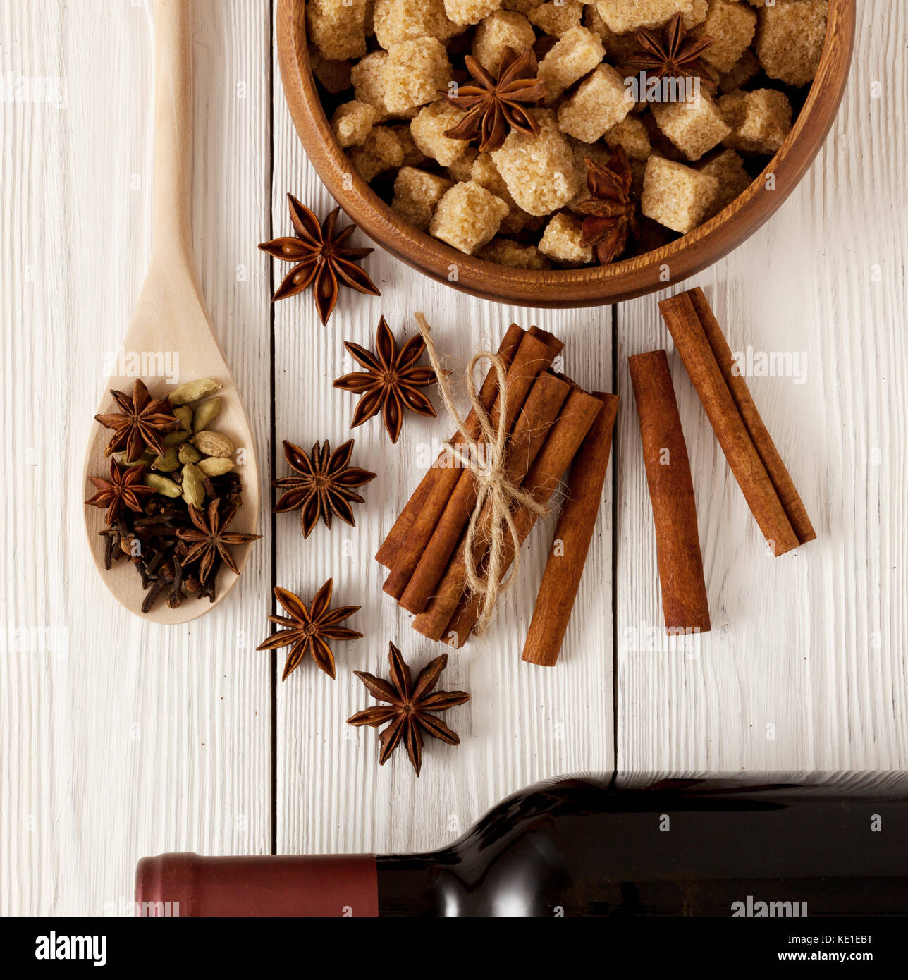 spices for mulled wine - Stock Image
