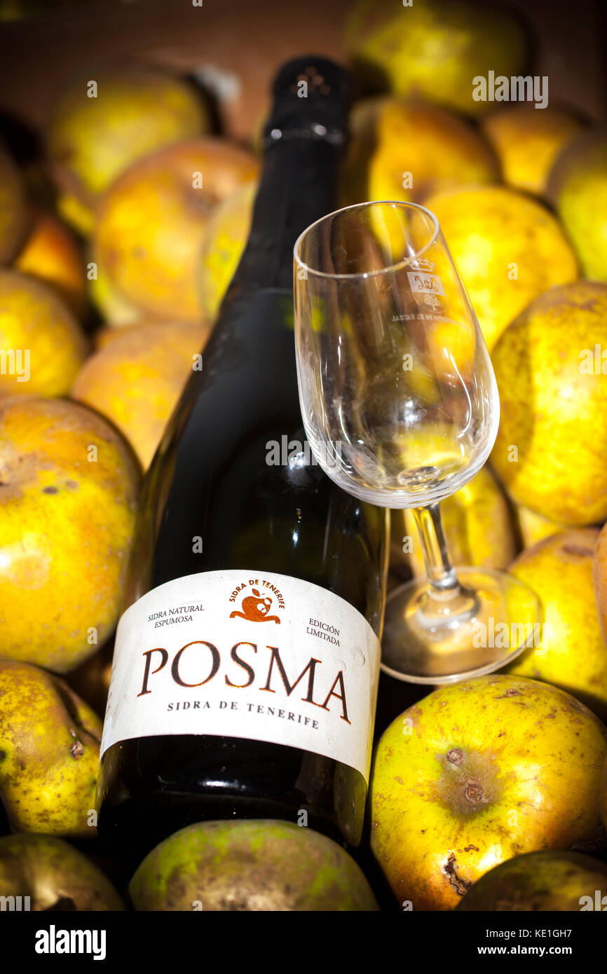 La Posma cider made in Tenerife island - Stock Image