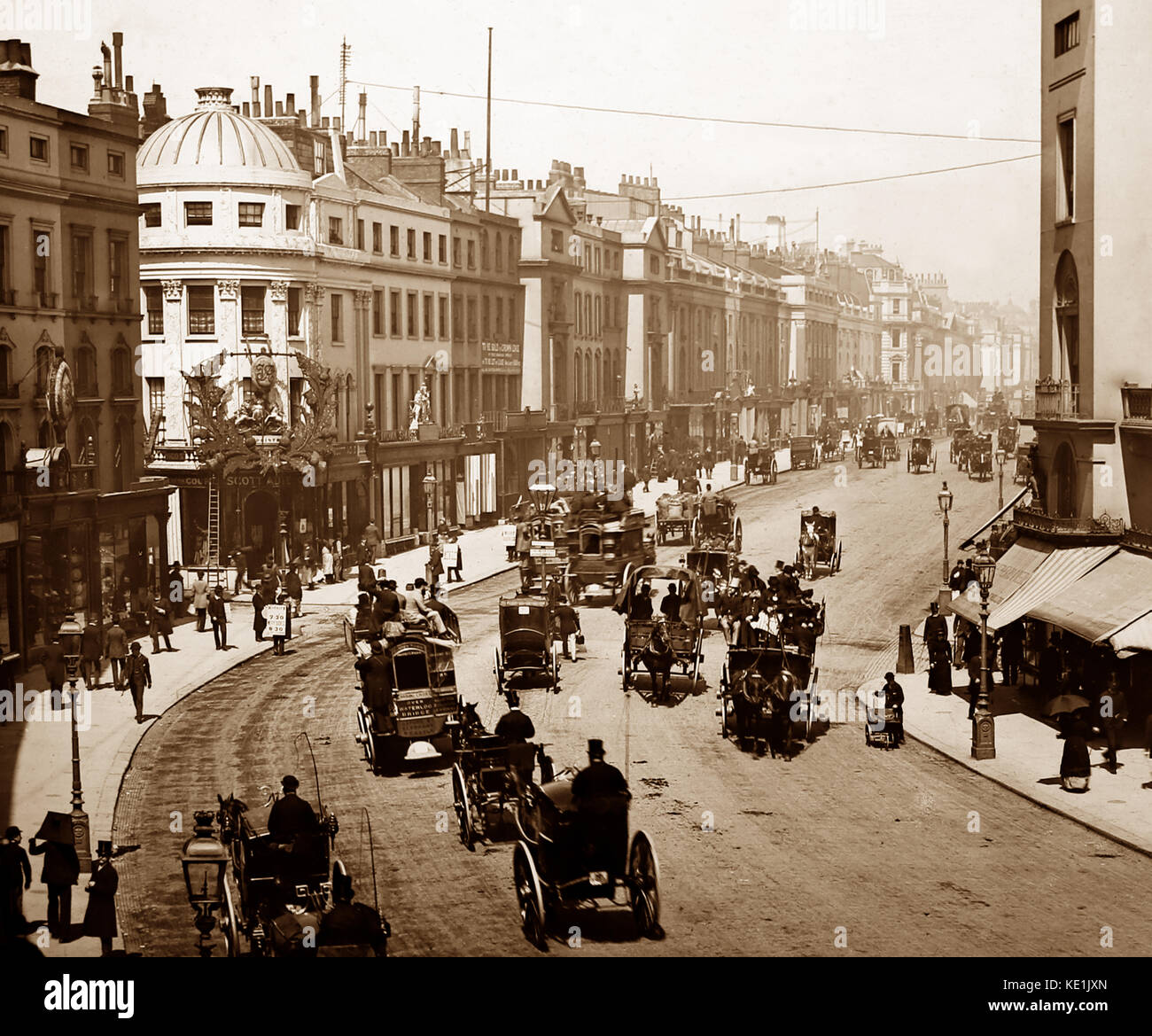 Regent Street, London, Victorian period - Stock Image