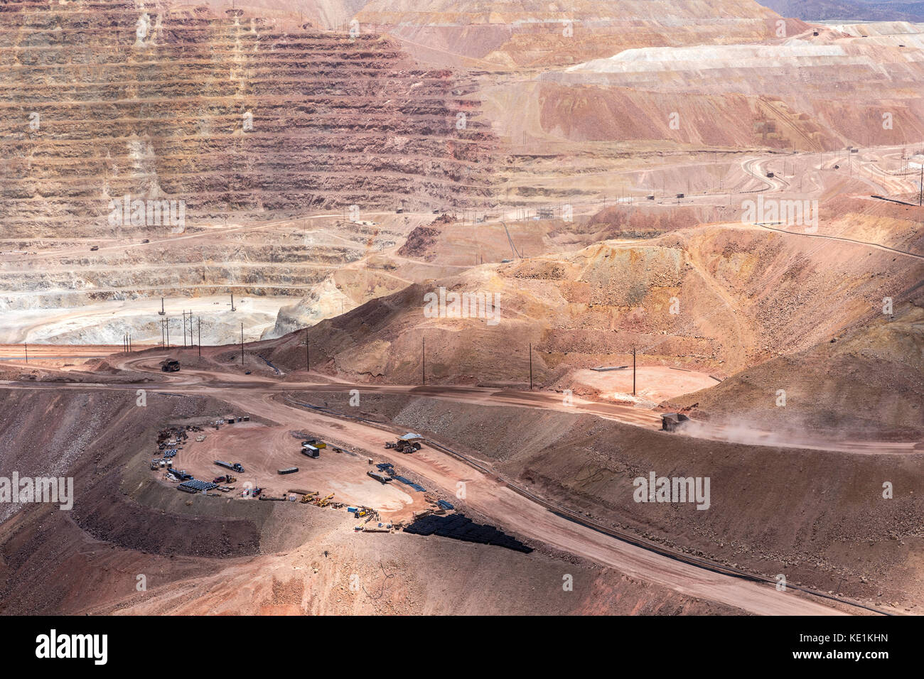 Morenci Copper Mine, Among the largest copper mines in the world, Greenlee County, Arizona, USA - Stock Image