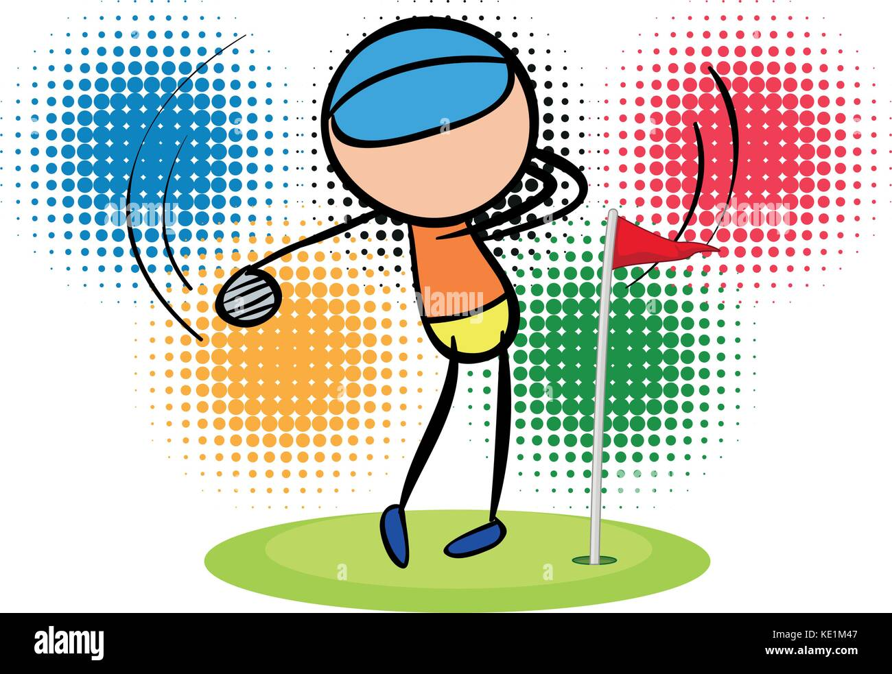 Olympics theme with golf player illustration - Stock Vector