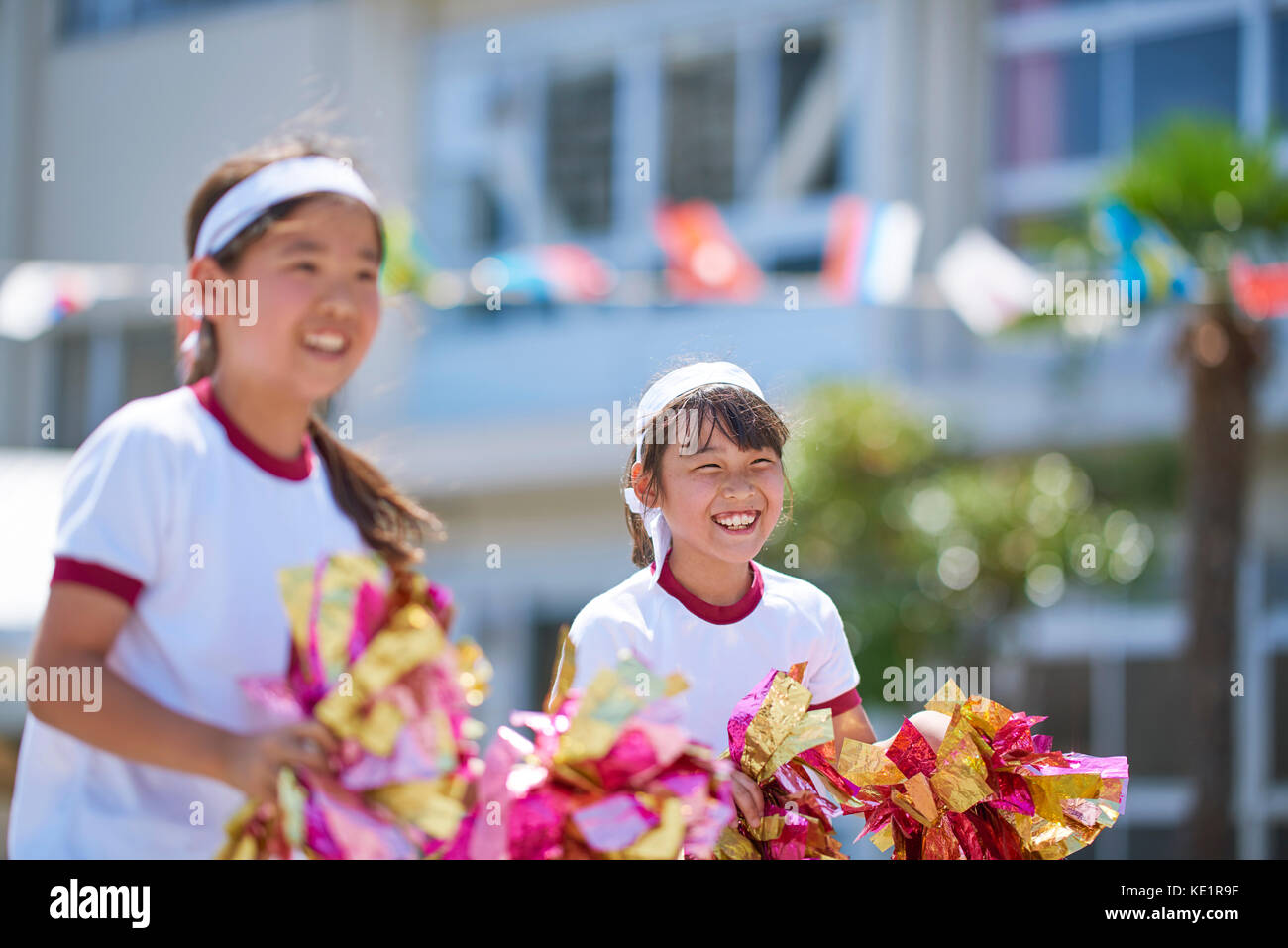 Japanese kids during school sports day - Stock Image