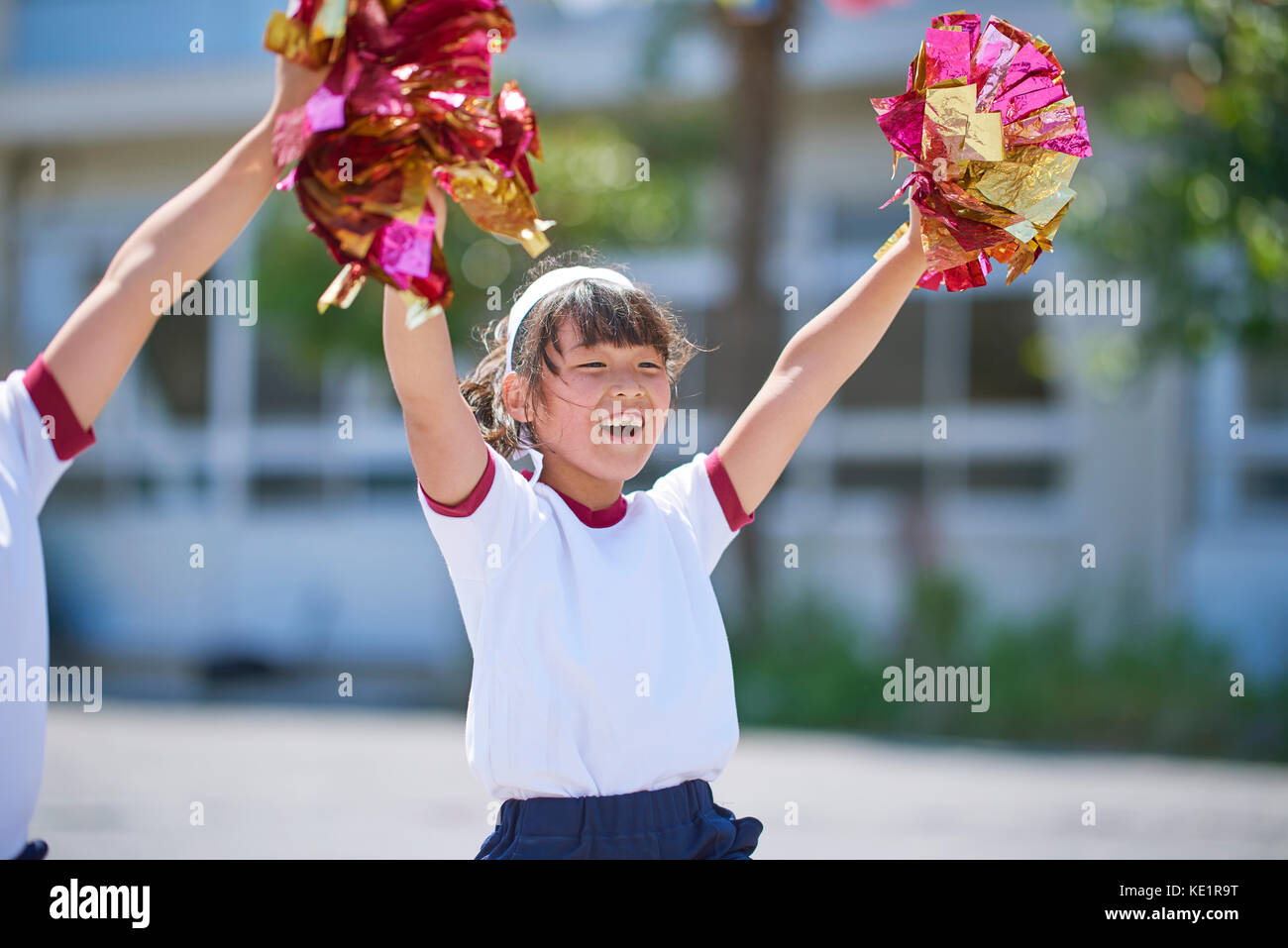 Japanese kid during school sports day - Stock Image