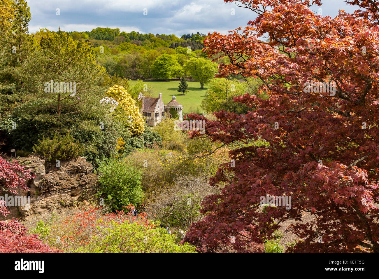 Scotney Castle is an English country house with formal gardens Stock ...