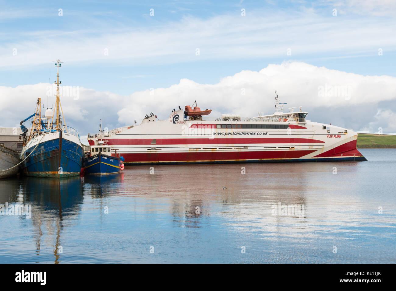 Pentland Ferries, St Margarets Hope, Orkney, Scotland, UK - Stock Image
