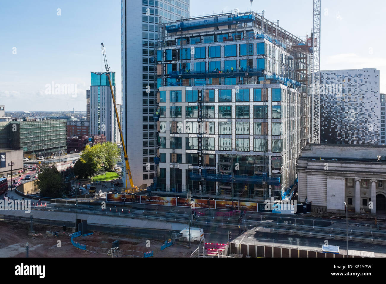 The new Birmingham HSBC Bank headquarters being constructed