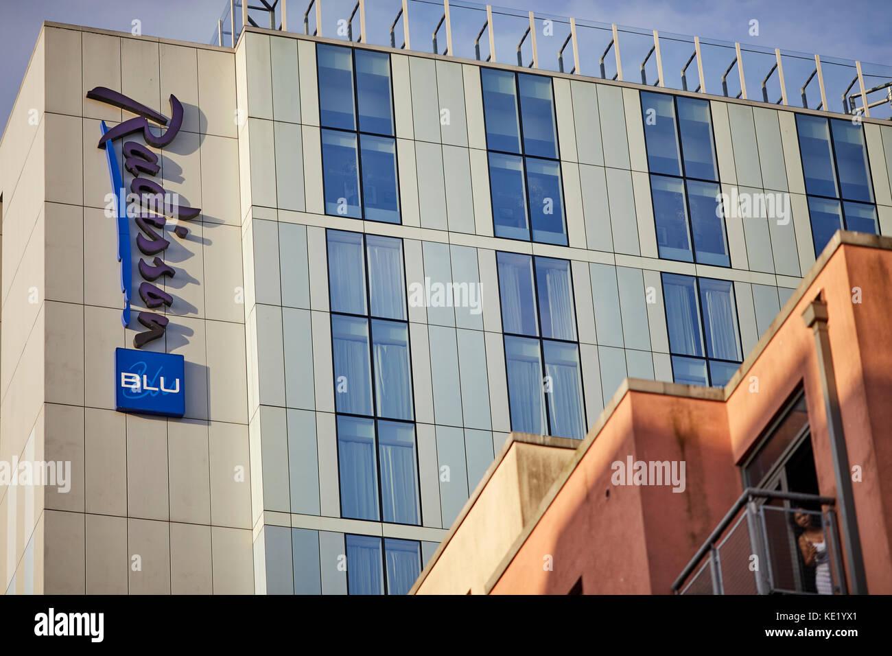 Radisson Blu hotel contemporary, city centre hotel in Bristol city centre - Stock Image
