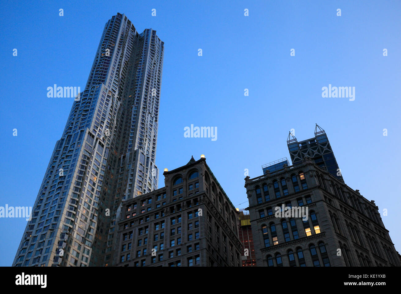 New York by Gehry building in Manhattan, NYC - Stock Image